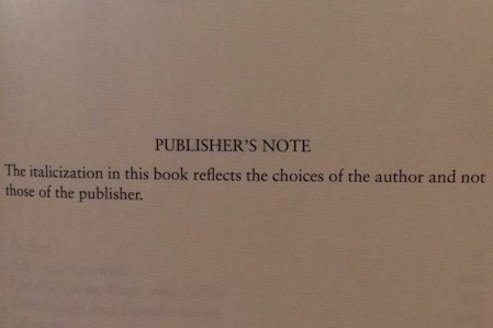 Screen shot of a publisher's note